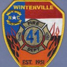 WINTERSVILLE NORTH CAROLINA FIRE RESCUE PATCH
