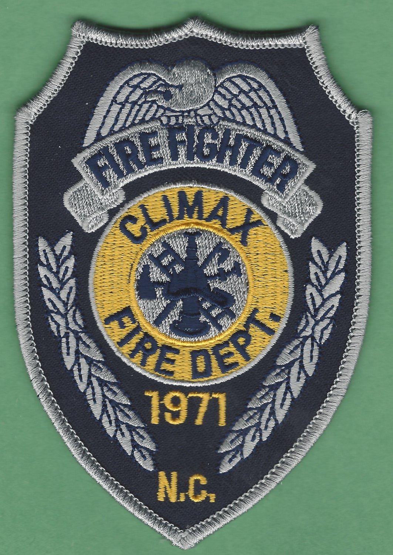 CLIMAX NORTH CAROLINA FIRE RESCUE PATCH