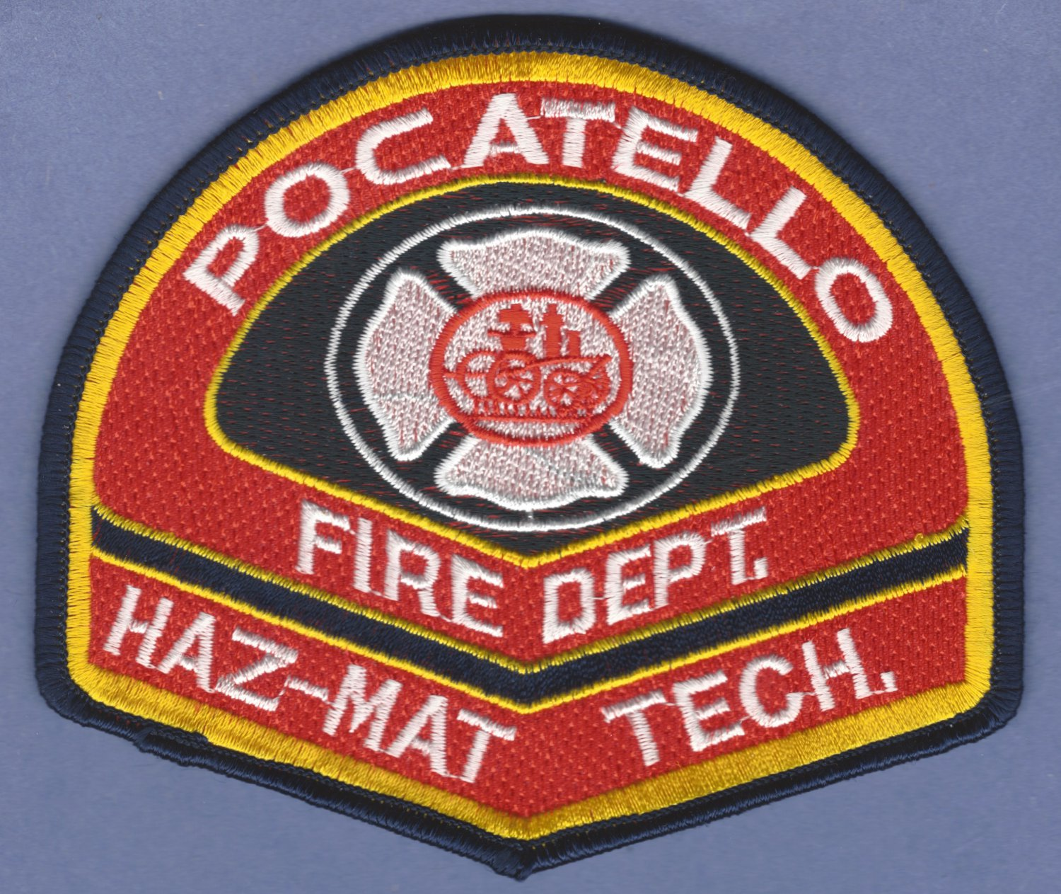 POCATELLO IDAHO FIRE RESCUE HAZ MAT TECHNICIAN PATCH