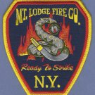 MOUNT LODGE NEW YORK FIRE RESCUE PATCH