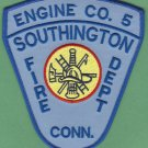 SOUTHINGTON CONNECTICUT FIRE RESCUE PATCH