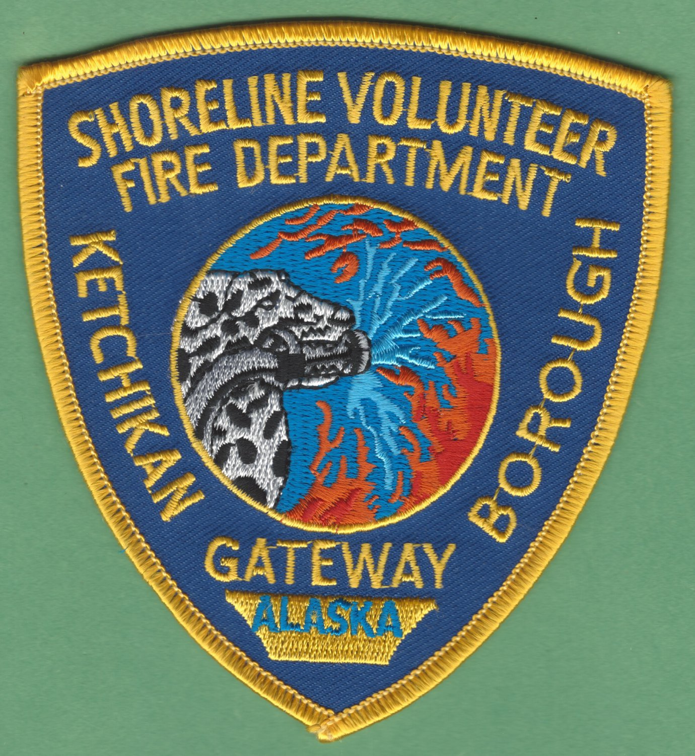 SHORELINE KETCHIKAN ALASKA FIRE RESCUE PATCH