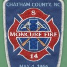 MONCURE NORTH CAROLINA FIRE RESCUE PATCH