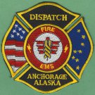 ANCHORAGE ALASKA FIRE RESCUE EMS DISPATCH PATCH