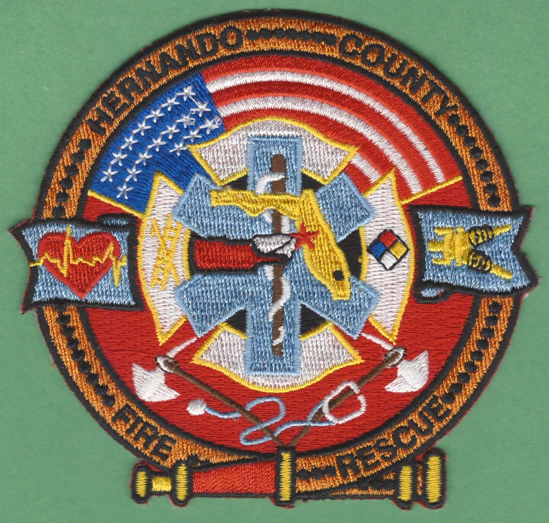 HERNANDINO COUNTY FLORIDA FIRE RESCUE PATCH