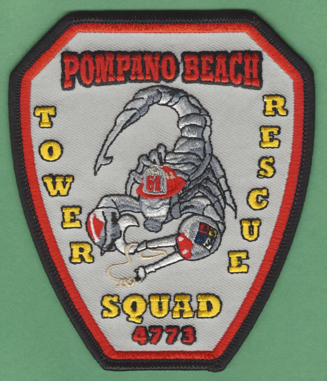 POMPANO BEACH FLORIDA FIRE RESCUE PATCH