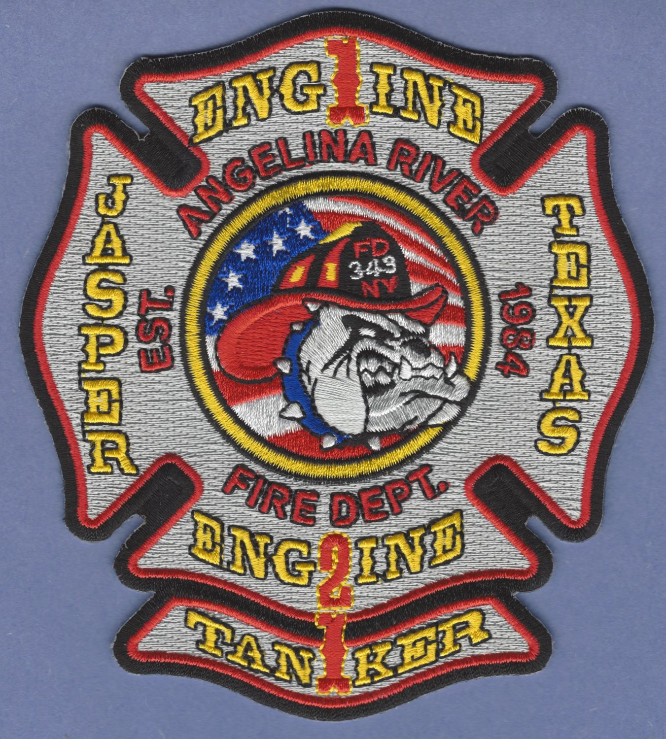ANGELINA RIVER TEXAS FIRE RESCUE PATCH