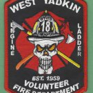 WEST YADKIN NORTH CAROLINA FIRE RESCUE PATCH