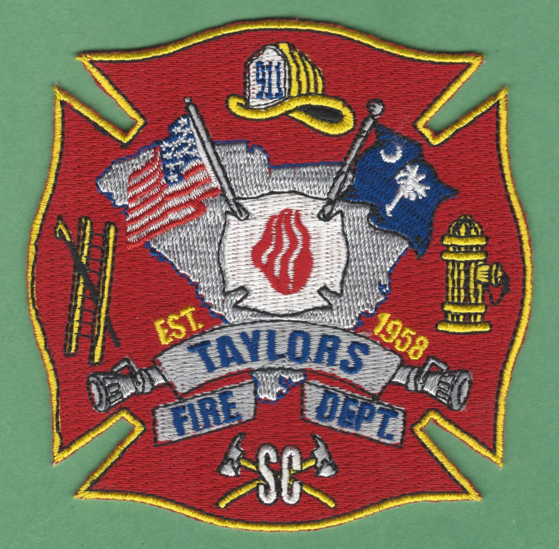 TAYLORS SOUTH CAROLINA FIRE RESCUE PATCH