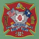 TAYLORS SOUTH CAROLINA FIRE RESCUE PATCH