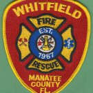 WHITFIELD FLORIDA FIRE RESCUE PATCH