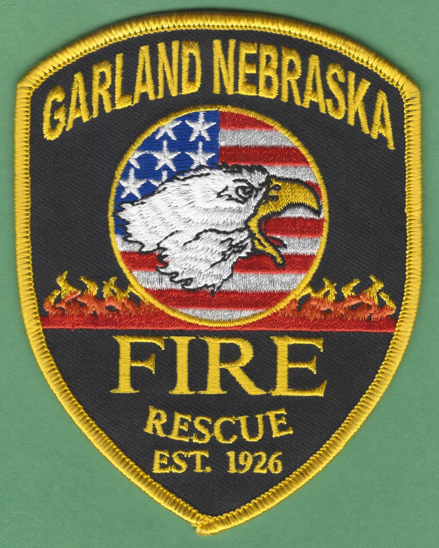 GARLAND NEBRASKA FIRE RESCUE PATCH