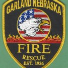 GARLAND NEBRASKA FIRE RESCUE PATCH