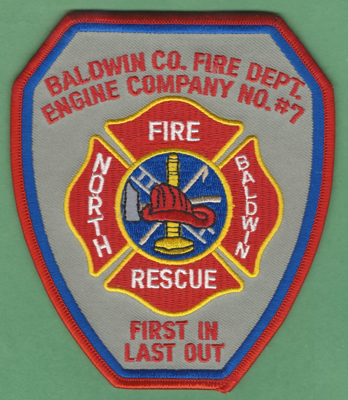 NORTH BALDWIN ALABAMA FIRE RESCUE PATCH