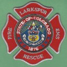 LARKSPUR COLORADO FIRE RESCUE PATCH