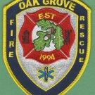 OAK GROVE VIRGINIA FIRE RESCUE PATCH