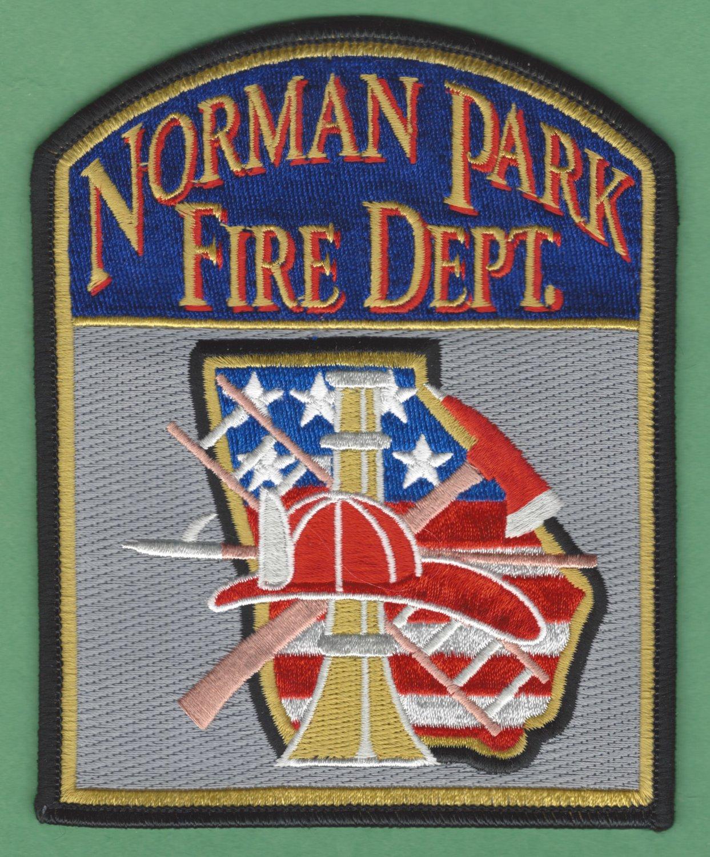 NORMAN PARK GEORGIA FIRE RESCUE PATCH