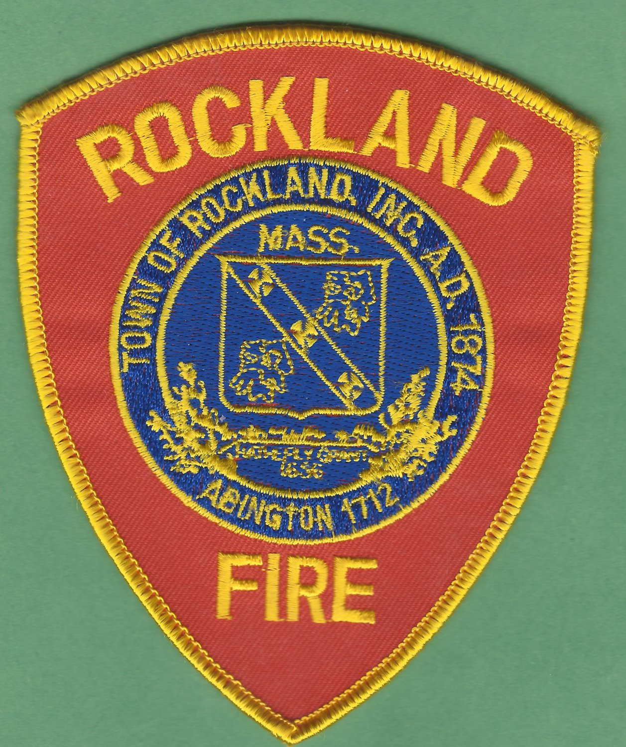 ROCKLAND MASSACHUSETTS FIRE RESCUE PATCH