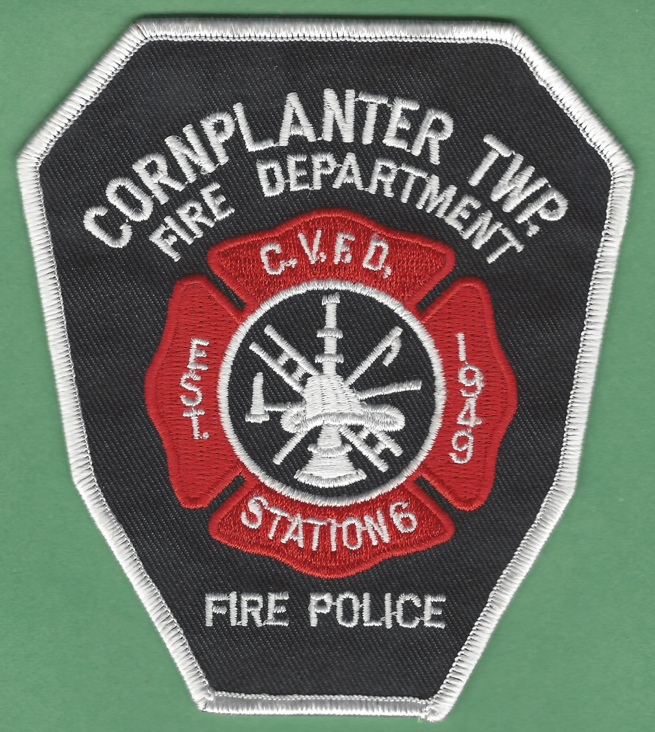 CORN PLANTER TOWNSHIP PENNSYLVANIA FIRE RESCUE PATCH