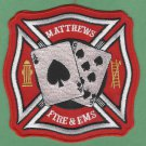 MATTHEWS NORTH CAROLINA FIRE RESCUE PATCH