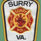 SURREY VIRGINIA FIRE RESCUE PATCH