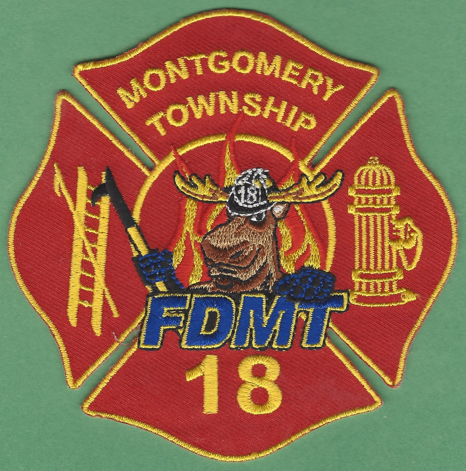MONTGOMERY TOWNSHIP PENNSYLVANIA FIRE RESCUE PATCH