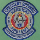 CRESCENT SPRINGS KENTUCKY FIRE RESCUE PATCH