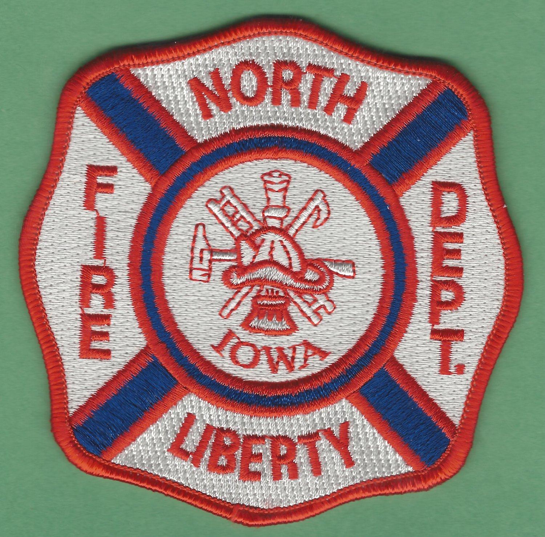 NORTH LIBERTY IOWA FIRE RESCUE PATCH