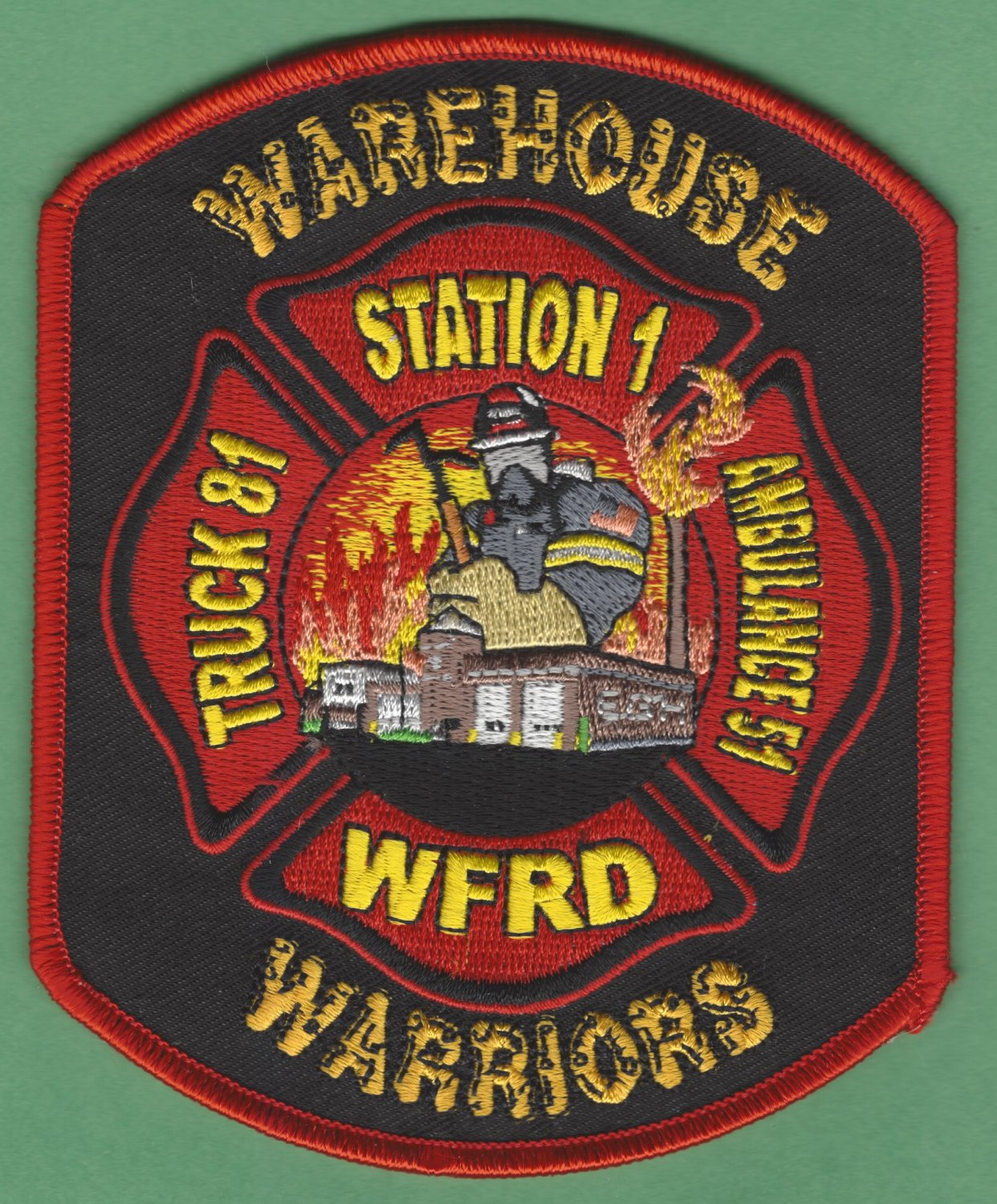 WOODSTOCK ILLINOIS FIRE RESCUE PATCH