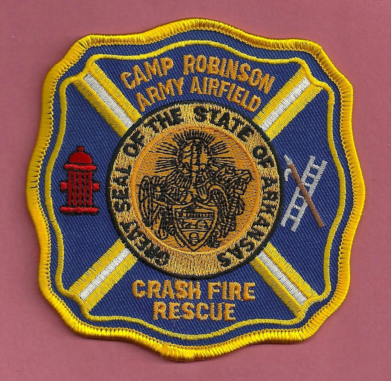 CAMP ROBINSON ARMY AIRFIELD ARKANSAS CRASH FIRE RESCUE PATCH