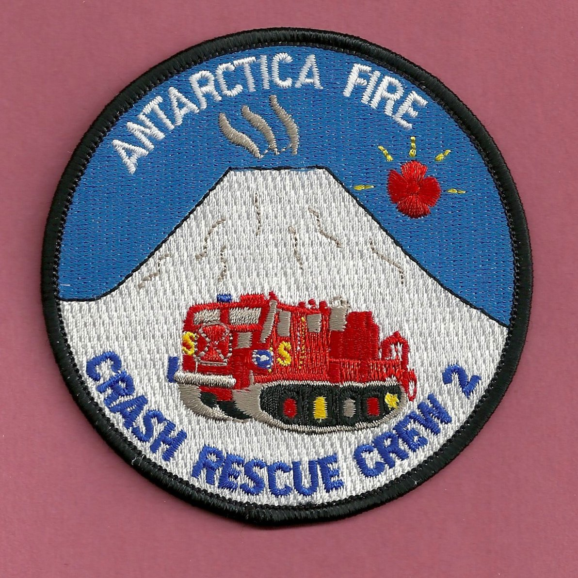 McMurdo Antarctica U.S. Naval Base Fire Rescue Crew 2 Patch