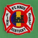 FORT KNOX ARMY BASE KENTUCKY FIRE RESCUE PATCH