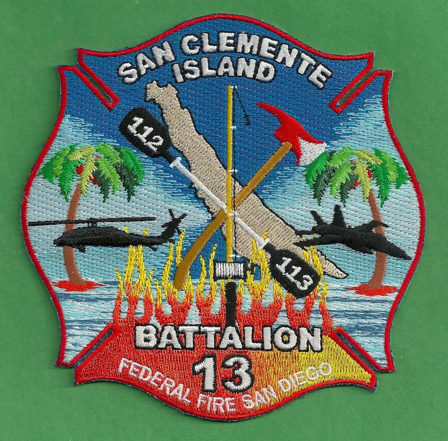 SAN CLEMENTE ISLAND NAVAL AIR FACILITY CALIFORNIA FIRE PATCH