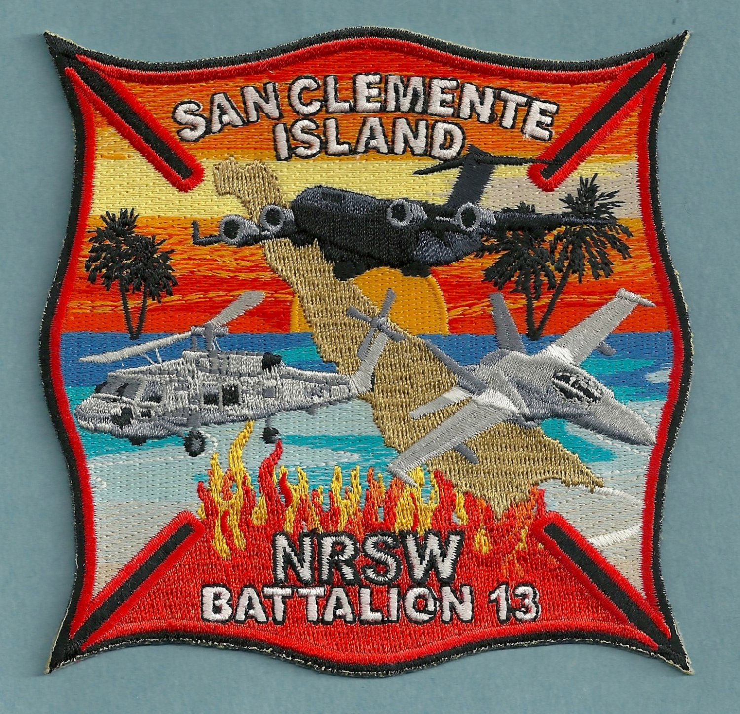 SAN CLEMENTE ISLAND NAVAL AIR FACILITY CALIFORNIA FIRE PATCH
