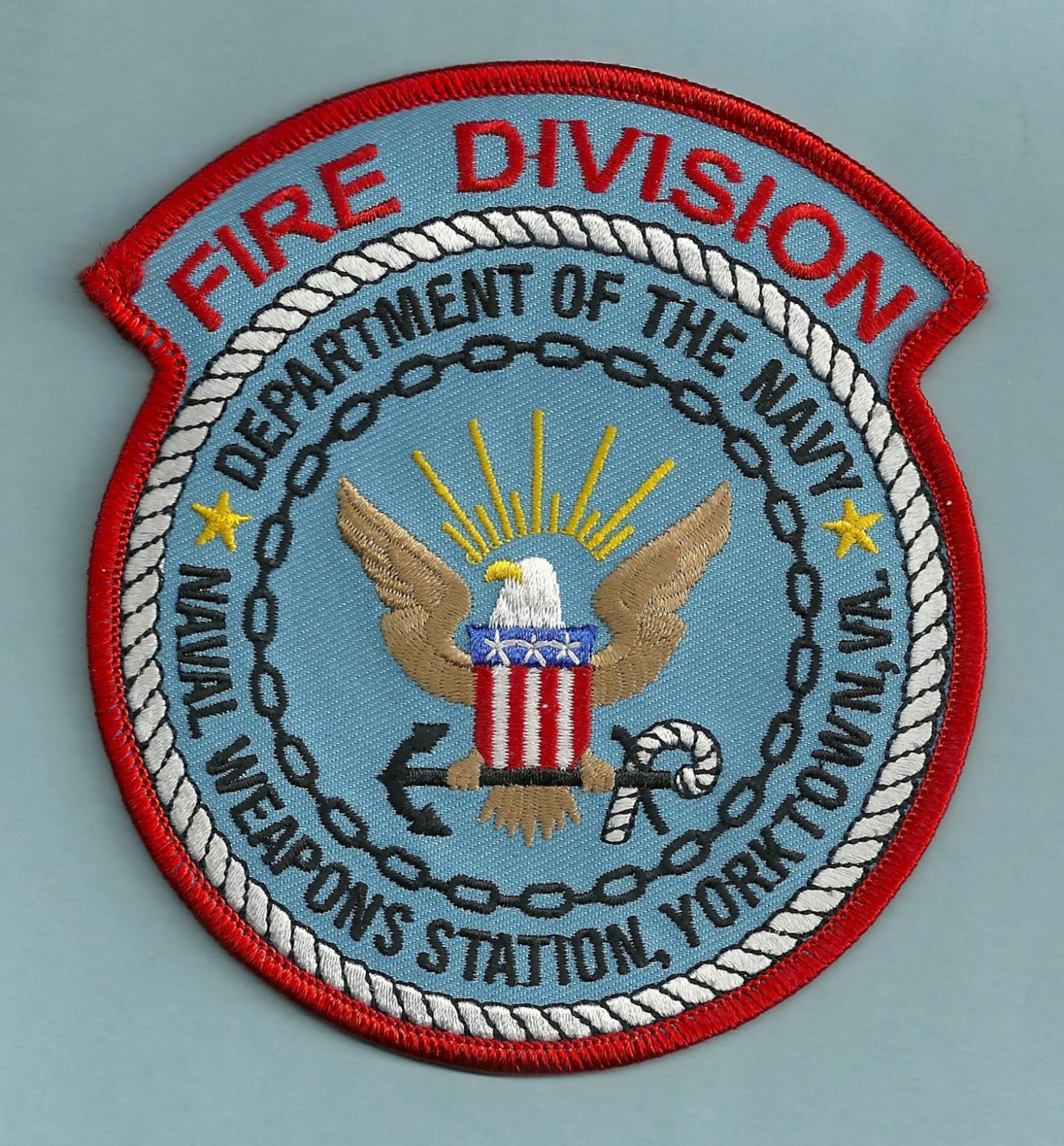 YORKTOWN VIRGINIA NAVAL WEAPONS STATION FIRE RESCUE PATCH