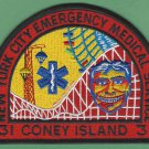 Brooklyn New York EMS Battalion 31 Fire Patch Coney Island