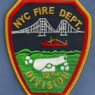 Staten Island New York Division Chief 12 Fire Company Patch
