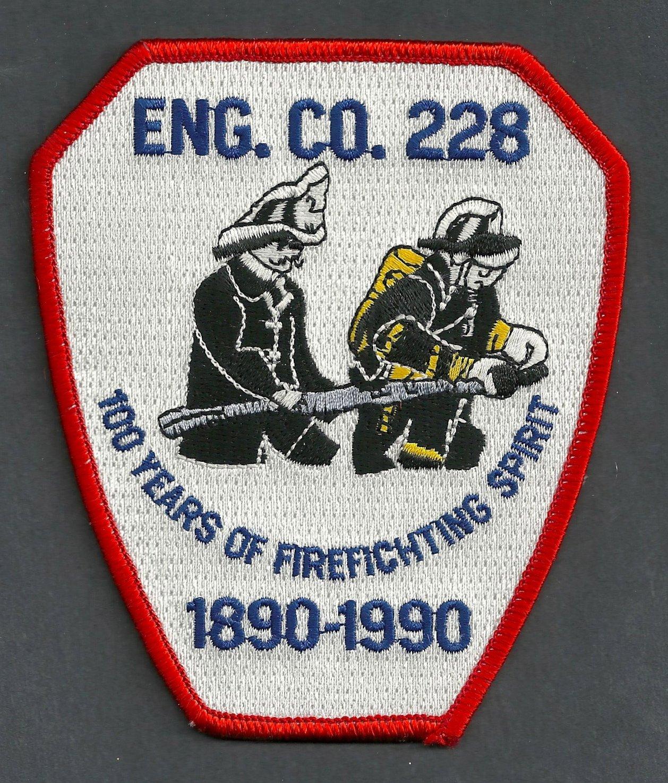 Brooklyn New York Engine Company 228 Fire Patch