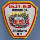 Brooklyn New York Engine Company 271 Battalion 28 Fire Patch