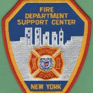 New York Fire Department Support Center Patch