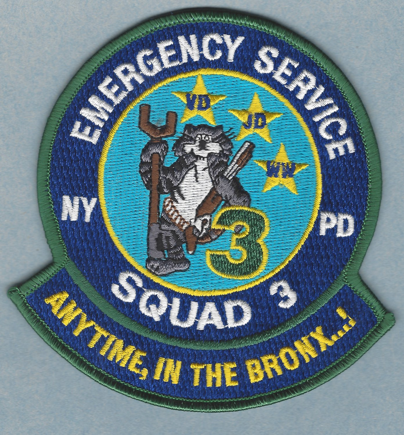 New York Police Department Emergency Service Squad 3 Patch