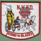 Brooklyn New York Engine Company 321 Fire Patch
