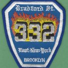 Brooklyn New York Engine Company 332 Fire Patch