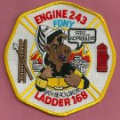 Brooklyn New York Engine 243 Ladder 168 Fire Company Patch