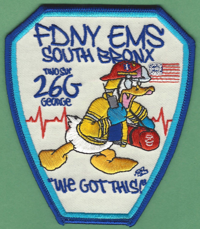 Bronx New York EMS Battalion 26 - G Fire Patch