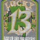 Bronx-Harlem New York EMS Battalion 13 Fire Patch