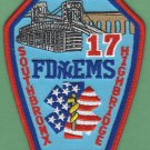Bronx New York EMS Battalion 17 Fire Patch