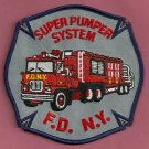 New York Fire Department Super Pumper Unit Patch