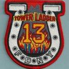 Manhattan New York Ladder Company 13 Fire Patch