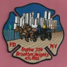 Brooklyn New York Engine Company 224 Fire Patch